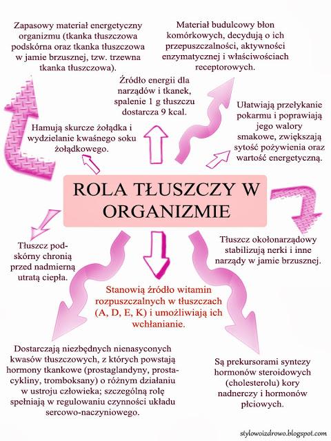 funkcje tłuszczów w organizmie