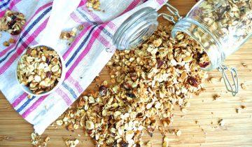Przepis na zdrową domową domową granolę