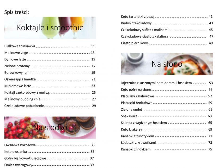 spis tresci sniadani bialkowo-tluszczowych