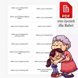 100 zyczen na dzien babci